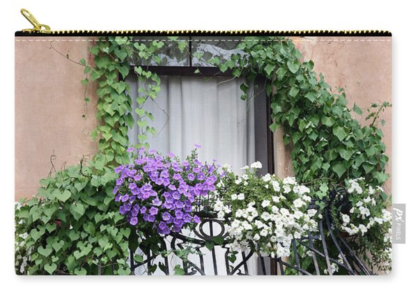 Cascading Floral Balcony Carry-all Pouch