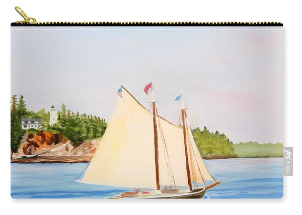 Castine Harbor And Dice Head Light Carry-all Pouch
