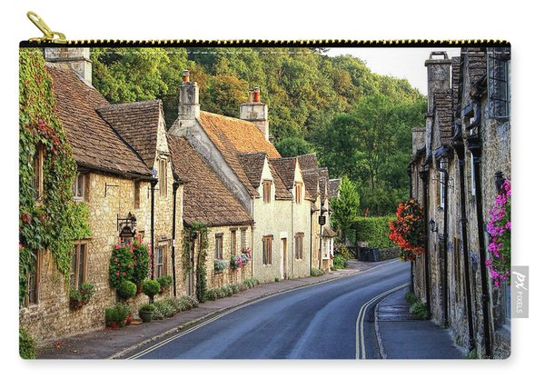 Carry-all Pouch featuring the photograph Castle Combe High Street by Michael Hope