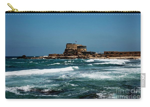 Carry-all Pouch featuring the photograph Castle Of Herod The Great by Mae Wertz