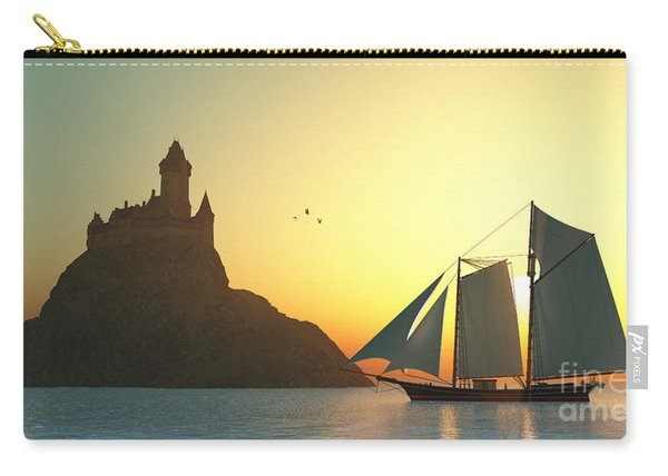 Castle On The Sea Carry-all Pouch
