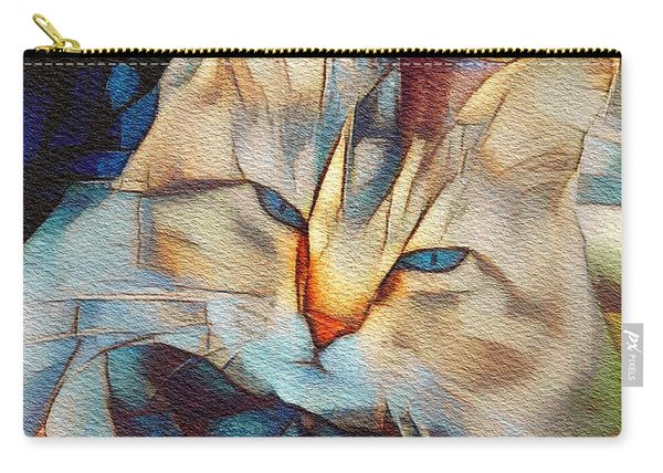 Cat And Cubes Carry-all Pouch