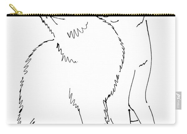 Cat-art-curious Carry-all Pouch