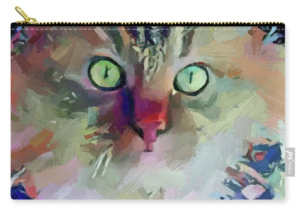 Cat Blue Carry-all Pouch