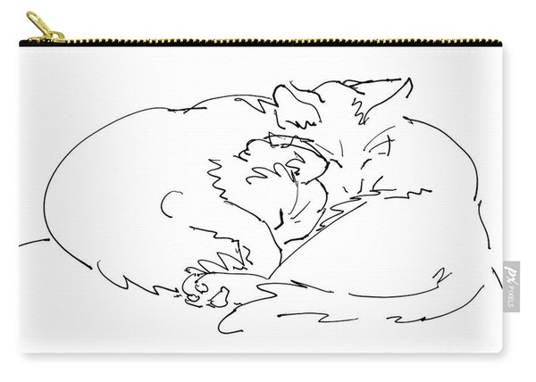 Cat Drawings 2 Carry-all Pouch