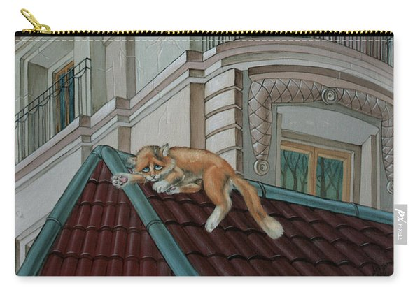 Cat From A Boulevard Saint-michel Carry-all Pouch