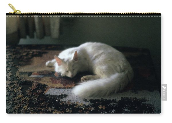 Cat On A Puzzle Carry-all Pouch