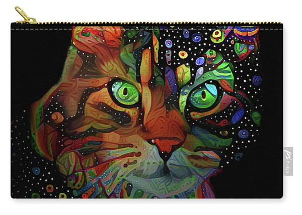 Cat On Black Carry-all Pouch