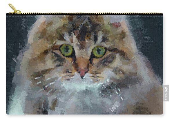 Cat On Canvas Carry-all Pouch