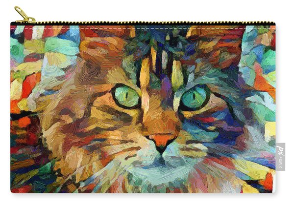 Cat On Colors Carry-all Pouch