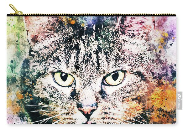 Cat On Splat Carry-all Pouch