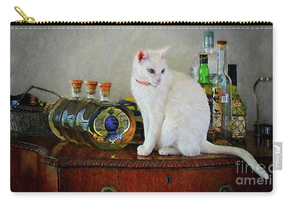Cat On The Liquor Cabinet Carry-all Pouch