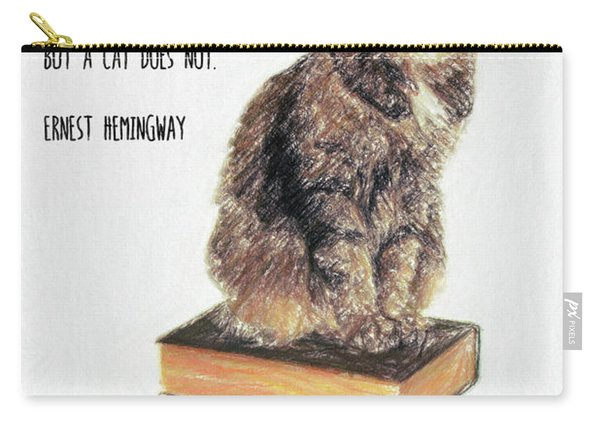 Cat Quote By Ernest Hemingway Carry-all Pouch