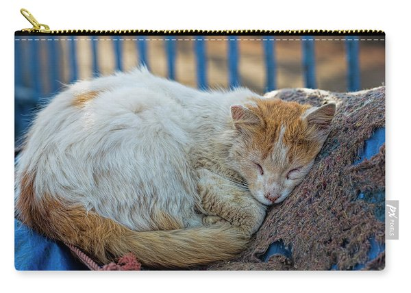 Cat Sleeping In Fishing Port Carry-all Pouch