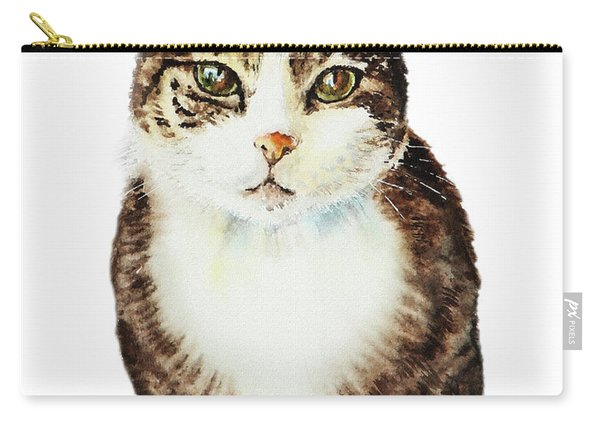 Cat Watercolor Illustration Carry-all Pouch