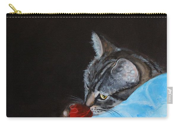 Cat With Red Yarn Carry-all Pouch