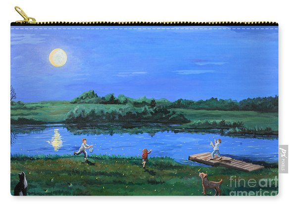 Catching Fireflies By Moonlight Carry-all Pouch