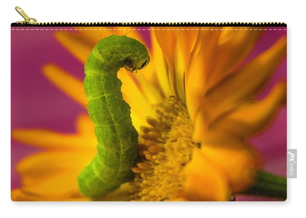 Caterpillar In Flower Carry-all Pouch