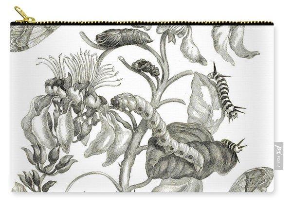 Caterpillars, Butterflies, And Flower Carry-all Pouch