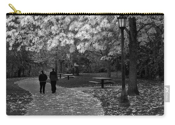 Cathedral Park In Fall Bw Carry-all Pouch