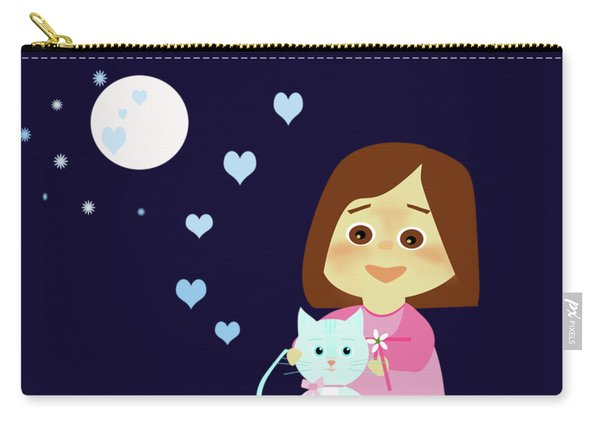 Cathy And The Cat Sweet Dreams Carry-all Pouch