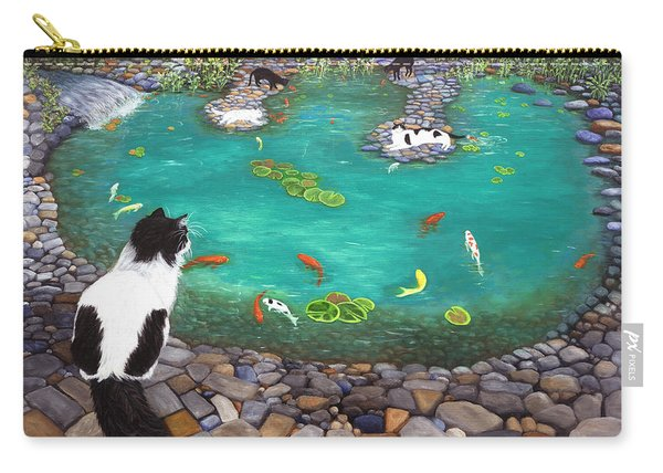 Cats And Koi Carry-all Pouch
