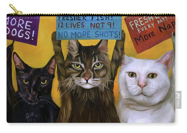 Cats On Strike 2 Carry-all Pouch