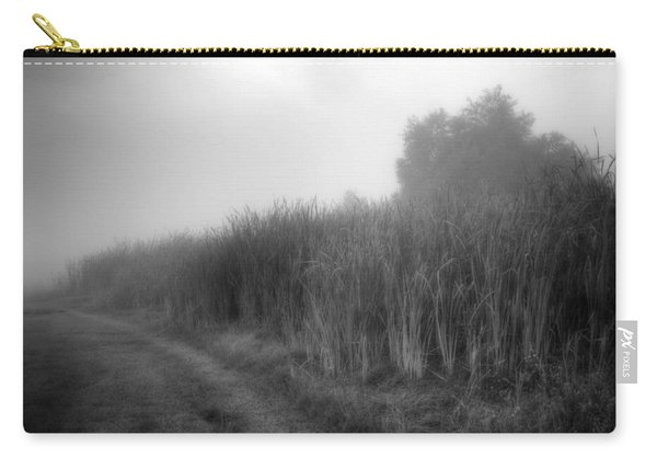 Carry-all Pouch featuring the photograph Cattails In The Fog by Michael Colgate