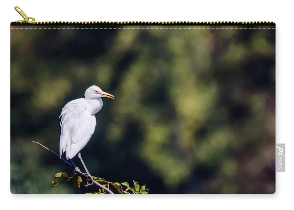 Cattle Egret With Natural Bokeh Carry-all Pouch