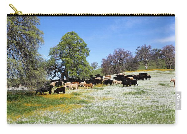 Cattle N Flowers Carry-all Pouch