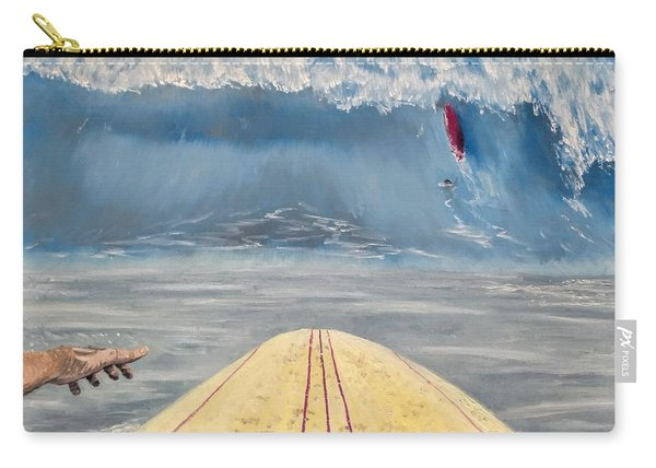 Carry-all Pouch featuring the painting Caught Inside by Kevin Daly