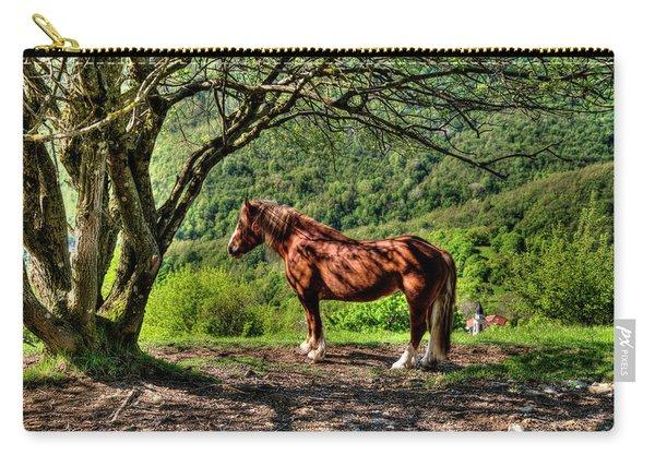 Cavalla Plains Horse - Cavallo Al Pian Della Cavalla Carry-all Pouch