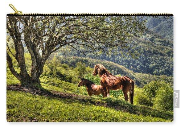 Cavalla Plains Horses - Cavalli Al Pian Della Cavalla Carry-all Pouch