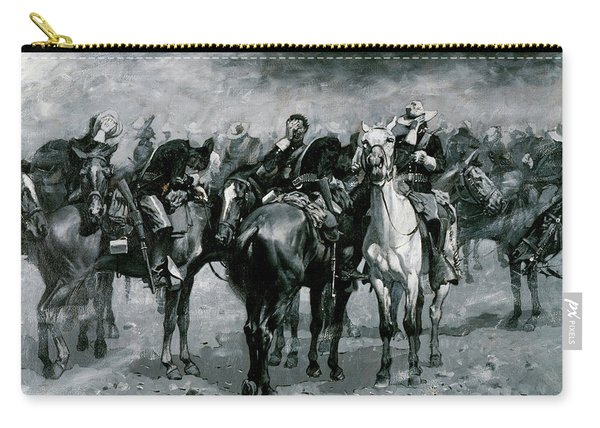 Cavalry In An Arizona Sand-storm Carry-all Pouch