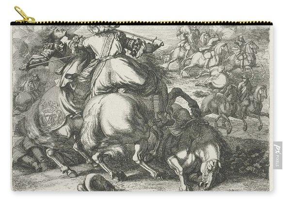 Cavalry In Battle, Jan Van Huchtenburg, After Adam Frans Van Der Meulen, 1674 - 1733 Carry-all Pouch