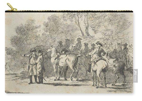 Cavalry Near A Battle, Dirk Langendijk, 1758 - 1805 Carry-all Pouch
