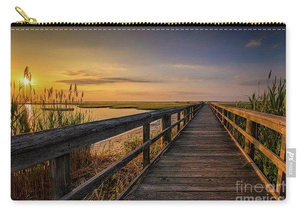 Cedar Beach Pier, Long Island New York Carry-all Pouch