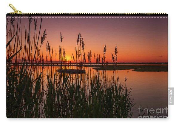 Cedar Beach Sunset In The Reeds Carry-all Pouch