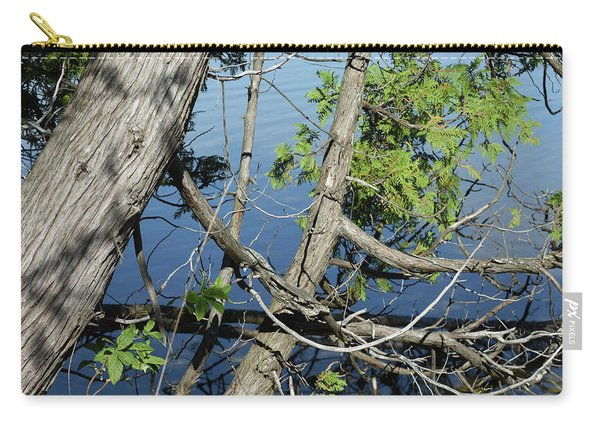Cedar Leaning Out Over The Water Carry-all Pouch