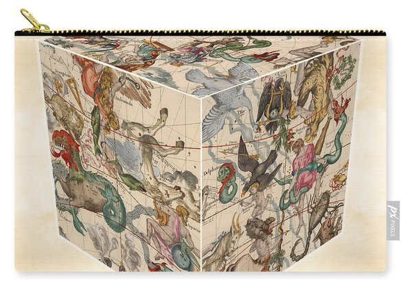 Celestial Map - Cubic Projection Of The Constellations 02 - Illustrated Map Of The Sky Carry-all Pouch