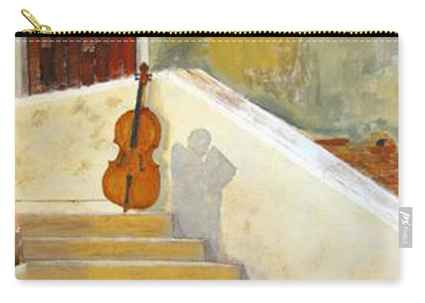 Carry-all Pouch featuring the painting Cello No 3 by Richard Le Page