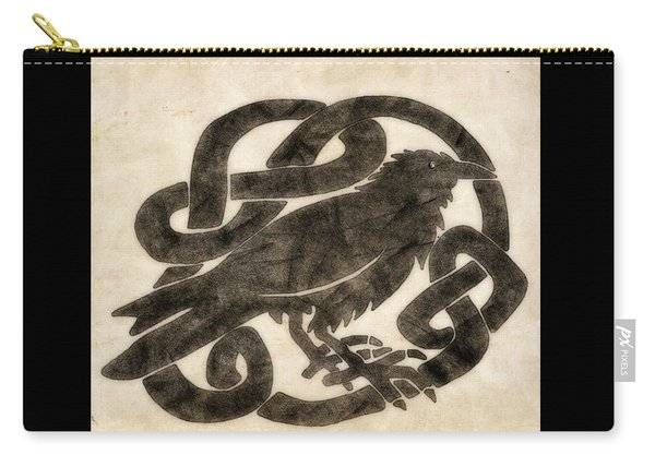 Celtic Raven Knot Carry-all Pouch