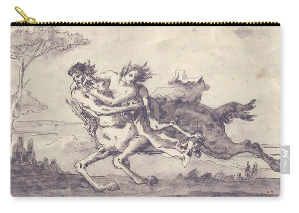Centaur Abducting A Satyress Carry-all Pouch