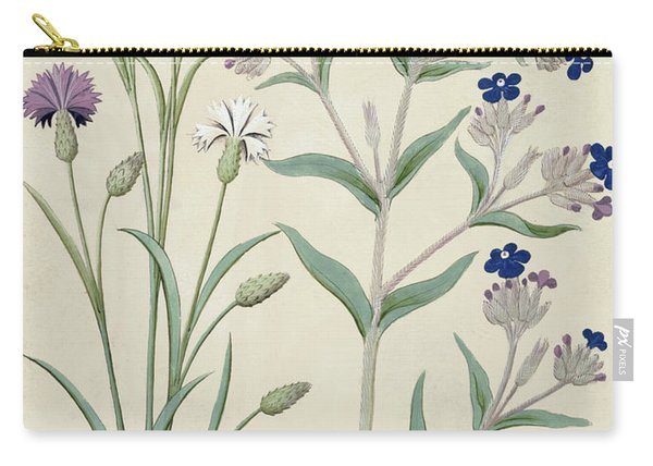 Centaurea Montana And Cornflowers Carry-all Pouch