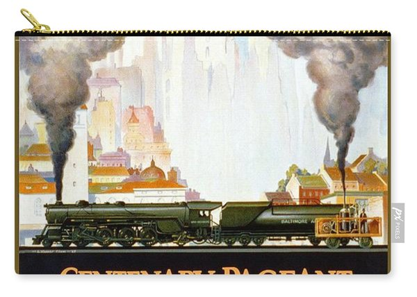 Centenary Pageant Of The Baltimore - Steam Engine - Retro Travel Poster - Vintage Poster Carry-all Pouch