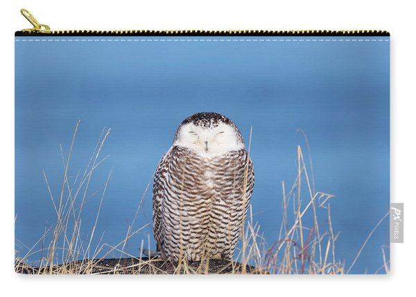 Centered Snowy Owl Carry-all Pouch