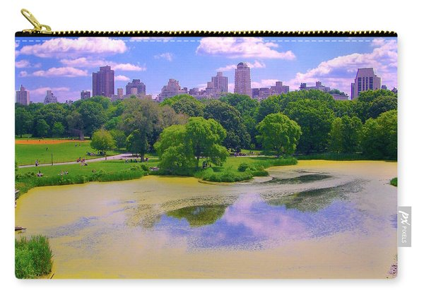 Central Park And Lake, Manhattan Ny Carry-all Pouch