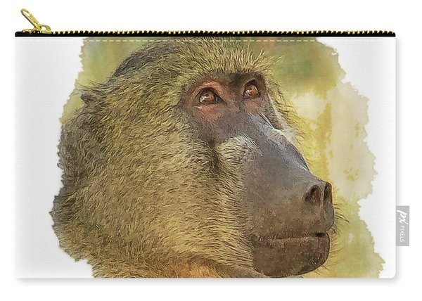 Chacma Baboon 6 Carry-all Pouch