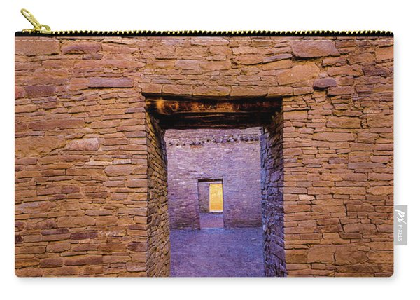 Chaco Canyon - Pueblo Bonito Doorways - New Mexico Carry-all Pouch