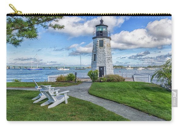 Chairs At Newport Harbor Lighthouse Carry-all Pouch